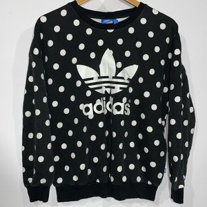 Adidas polka dot crewneck sweatshirt